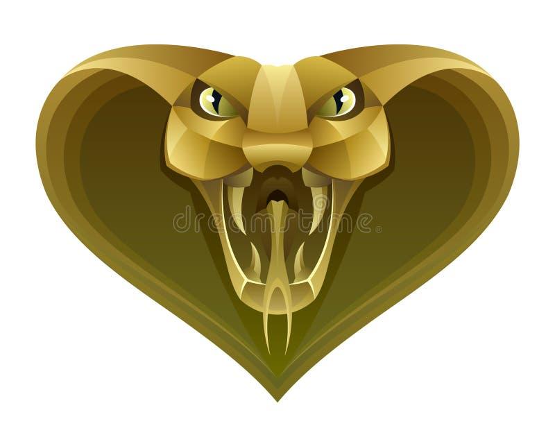 Gouden slanghoofd stock illustratie