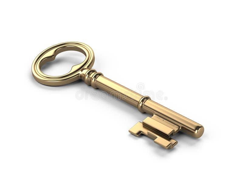Gouden sleutel royalty-vrije illustratie