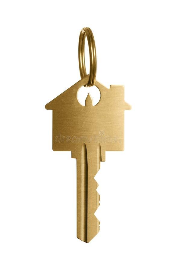 Gouden sleutel tot een droomhuis royalty-vrije stock afbeelding