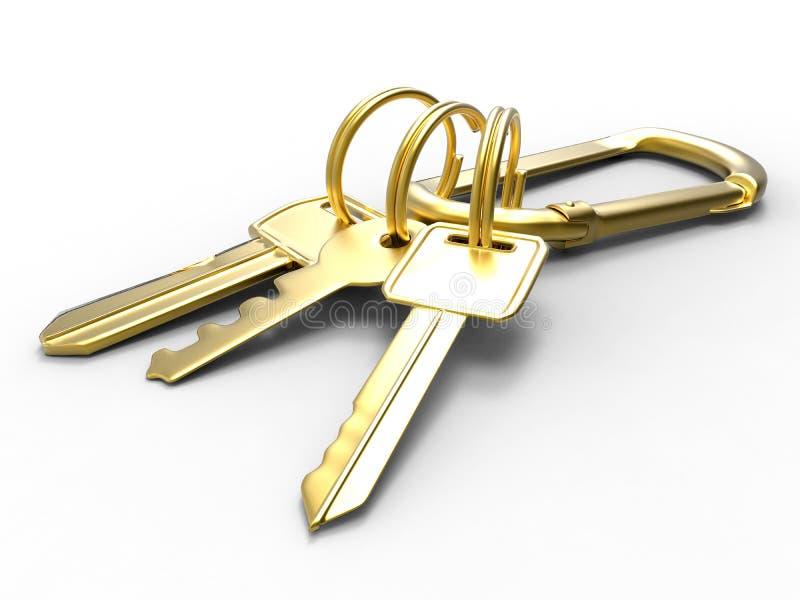 Gouden sleutels vector illustratie