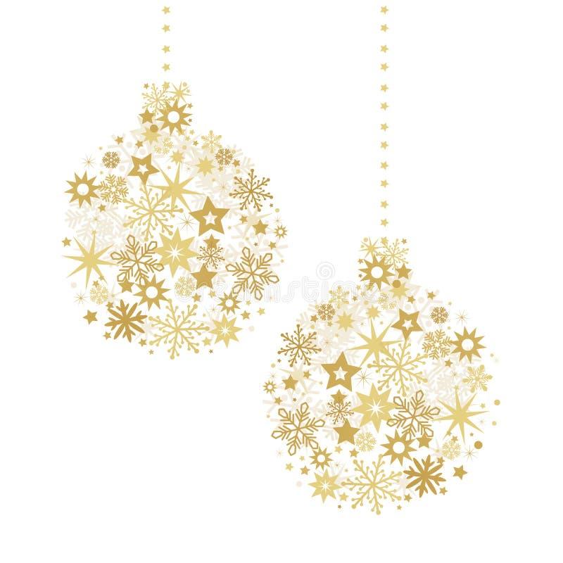 Gouden snuisterij en sterrenillustratie royalty-vrije illustratie