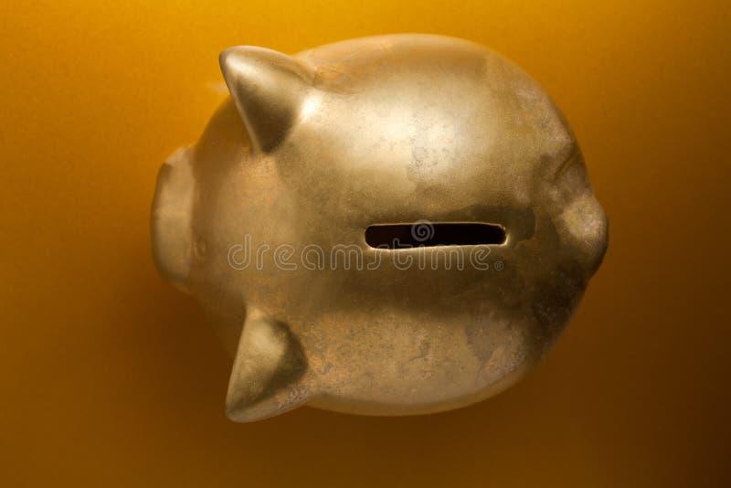 Gouden Spaarvarken stock foto's