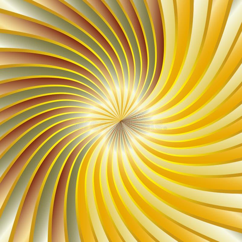 Gouden spiraalvormige draaikolk royalty-vrije illustratie