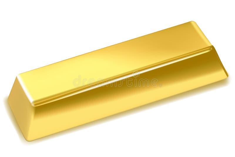 Gouden staaf vector illustratie