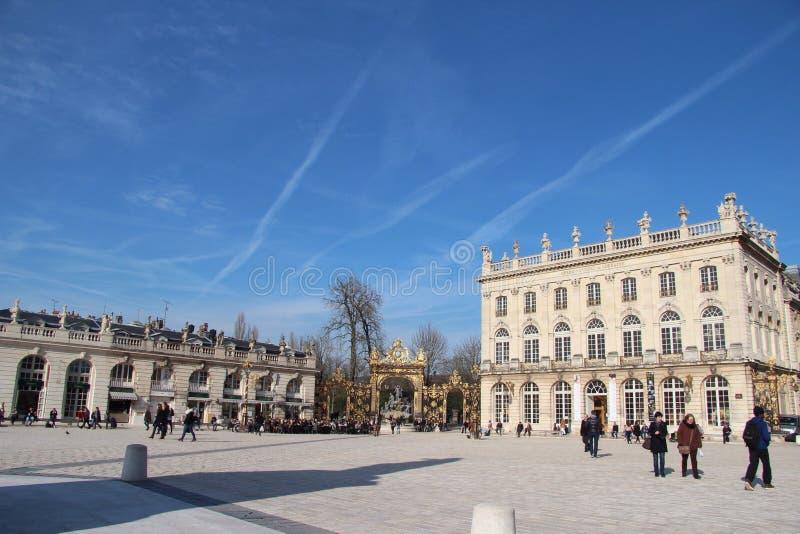 Gouden stadspoort in Frankrijk royalty-vrije stock foto's