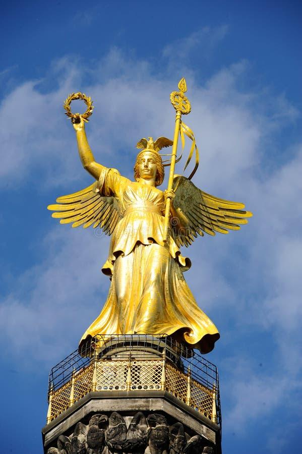 Gouden standbeeld royalty-vrije stock fotografie