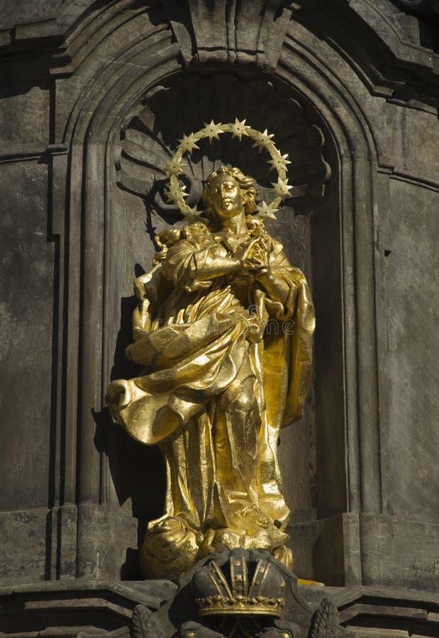 Gouden Standbeeld royalty-vrije stock afbeeldingen