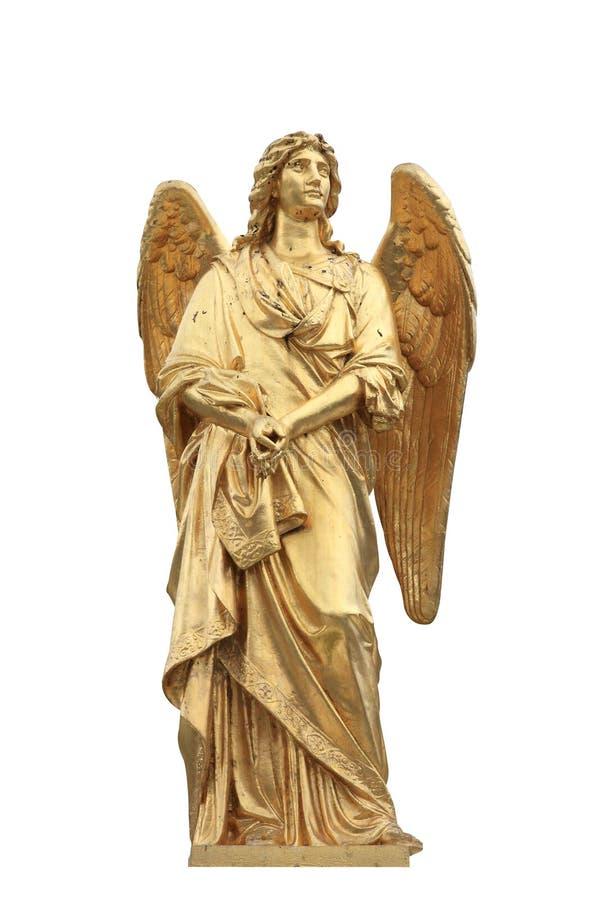 Gouden standbeeld van engel royalty-vrije stock foto