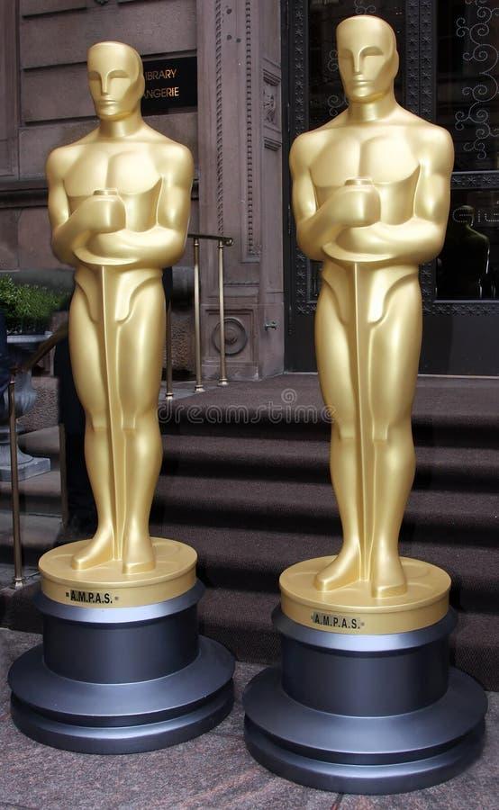 Gouden Standbeelden stock afbeelding