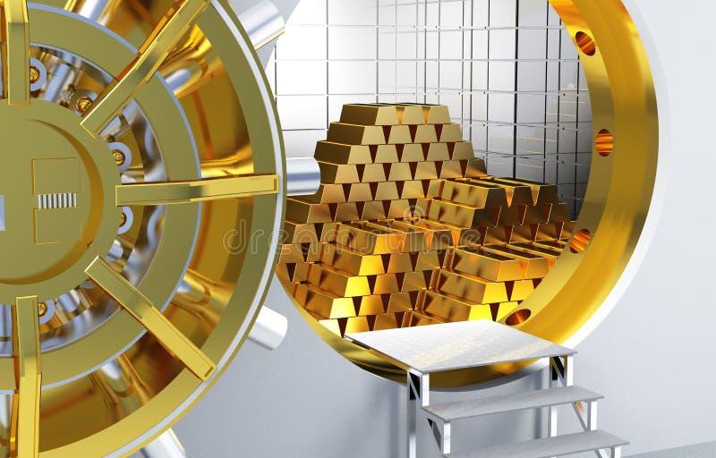 Gouden staven vector illustratie