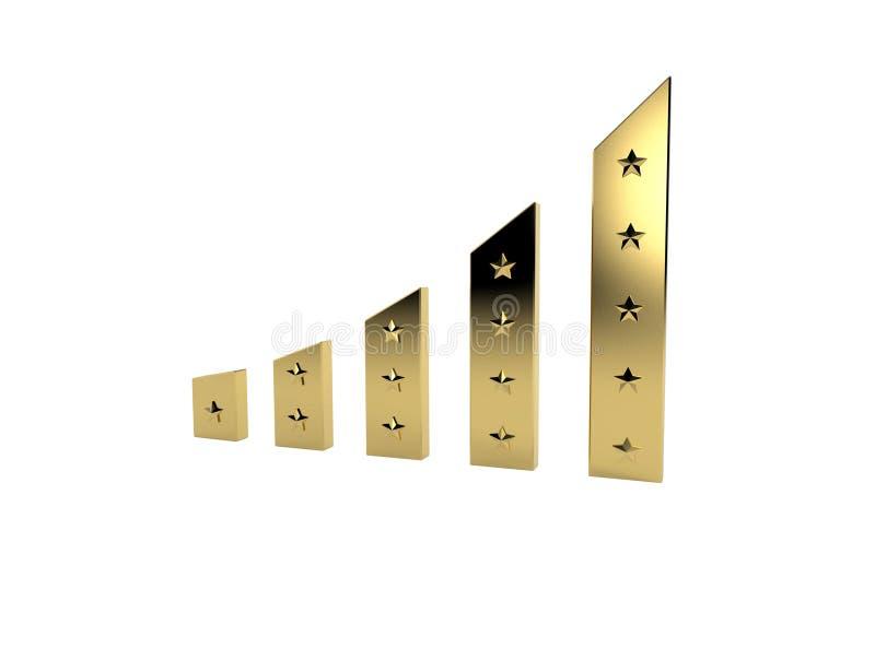 Gouden Staven met sterren royalty-vrije illustratie