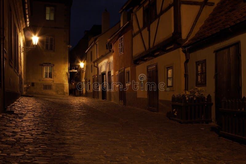 Gouden steeg binnen het Kasteel van Praag royalty-vrije stock afbeeldingen