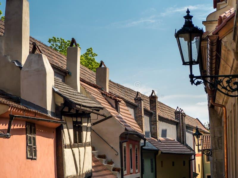 Gouden Steeg, het kasteel van Praag royalty-vrije stock afbeeldingen