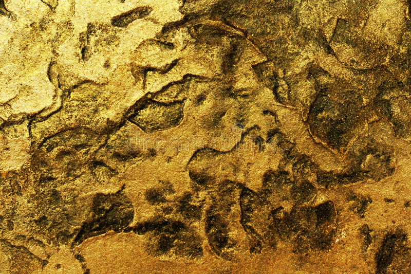 Gouden steenachtergrond stock fotografie