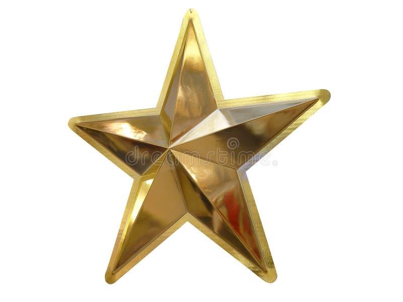 Gouden ster royalty-vrije stock foto