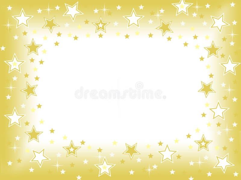 Gouden ster met lege ruimtevieringsachtergrond vector illustratie