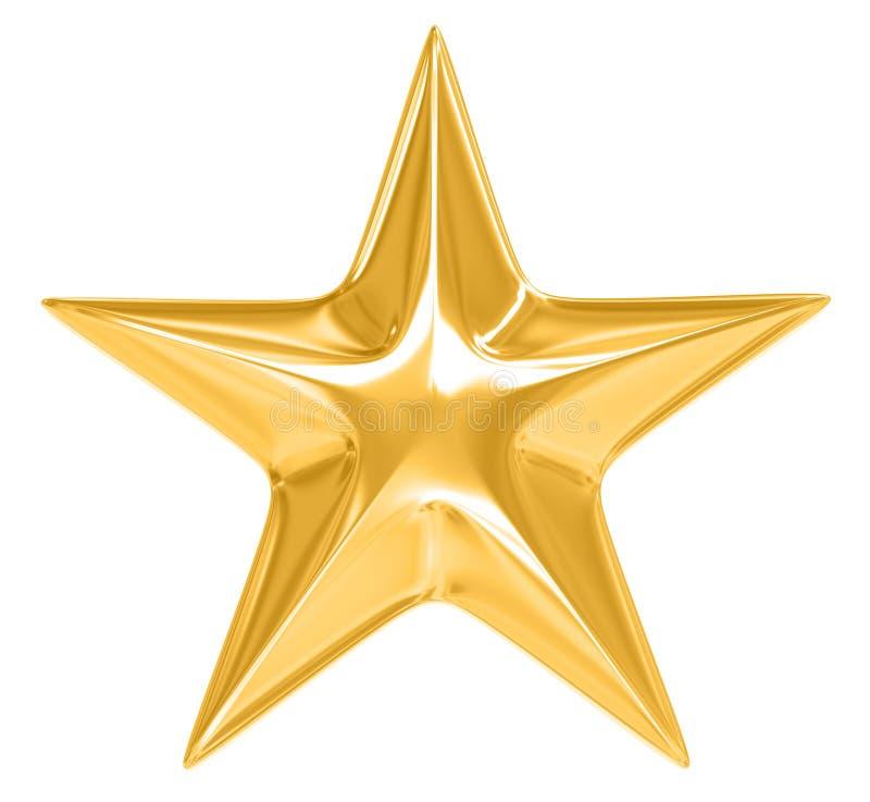 Gouden Ster op witte achtergrond royalty-vrije illustratie