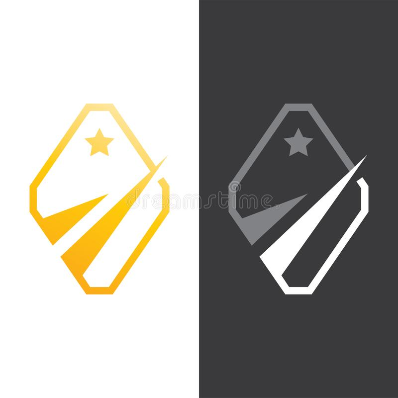 Gouden Sterfinanciën Logo Vector royalty-vrije illustratie