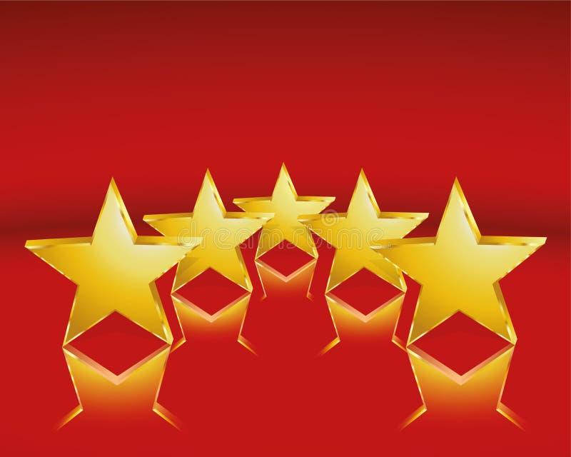 Gouden sterren stock illustratie