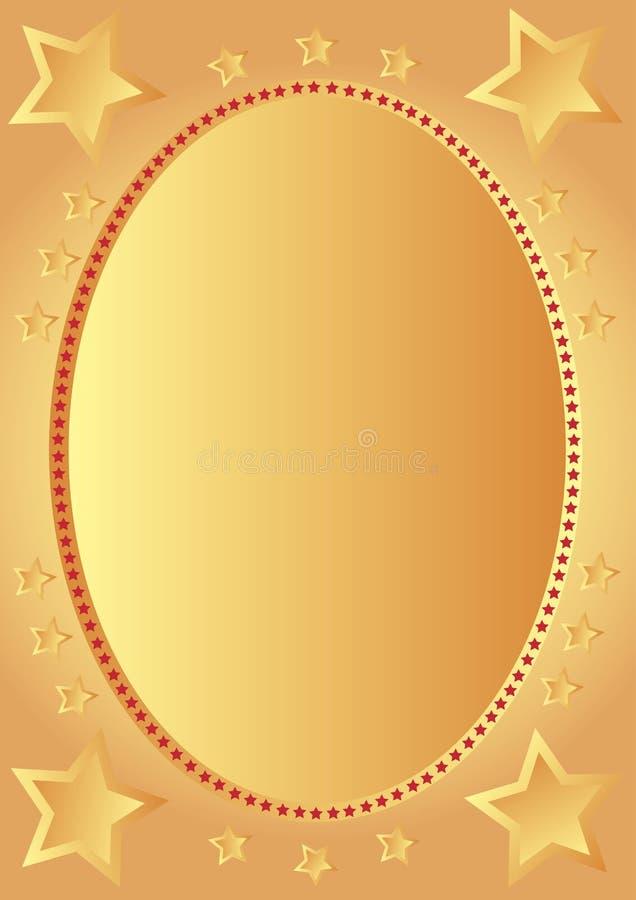 Gouden sterren vector illustratie