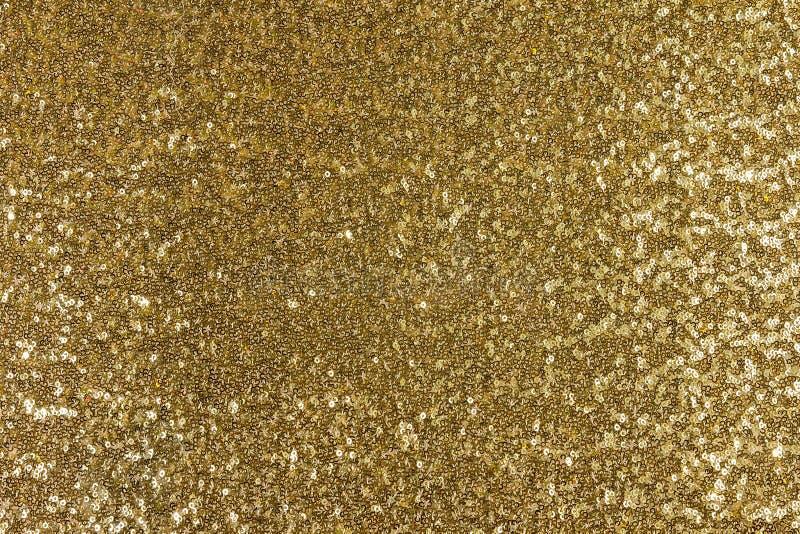 Gouden stoffentextuur stock foto