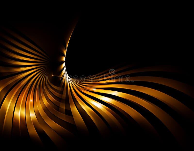 Gouden stralen stock illustratie