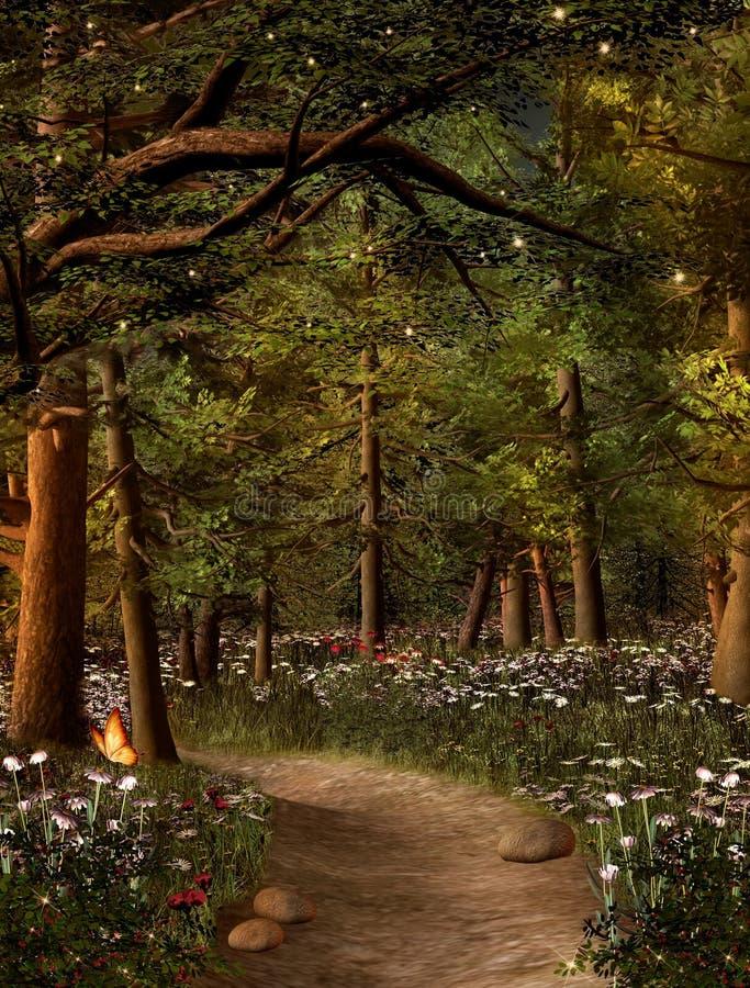 Gouden stralen in het bos royalty-vrije stock fotografie