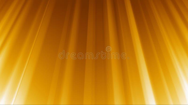 Gouden Stralen Lichte Achtergrond royalty-vrije illustratie