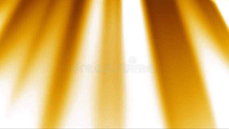 Gouden Stralen Lichte Achtergrond stock illustratie