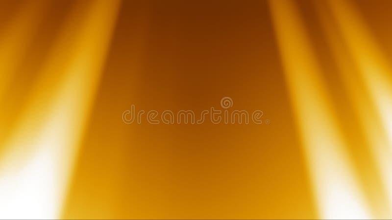 Gouden Stralen Lichte Achtergrond vector illustratie