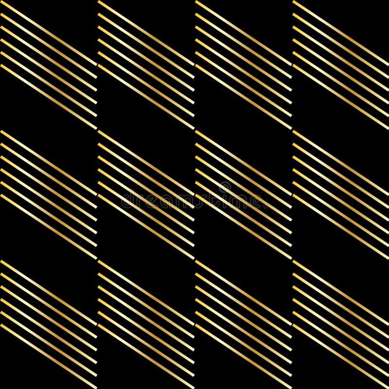 Gouden strook op zwarte stock illustratie