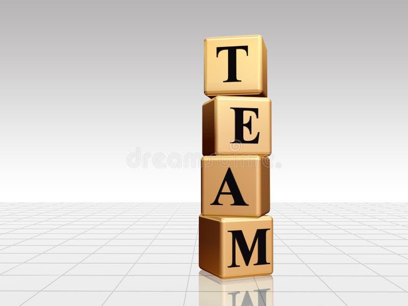 Gouden team met bezinning vector illustratie