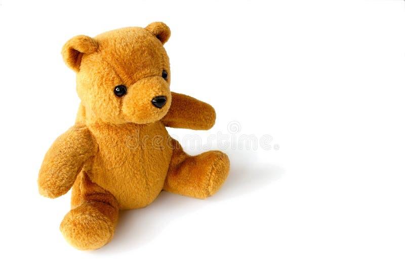 Gouden teddybeer royalty-vrije stock afbeeldingen