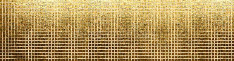 Gouden tegelspatroon stock afbeelding