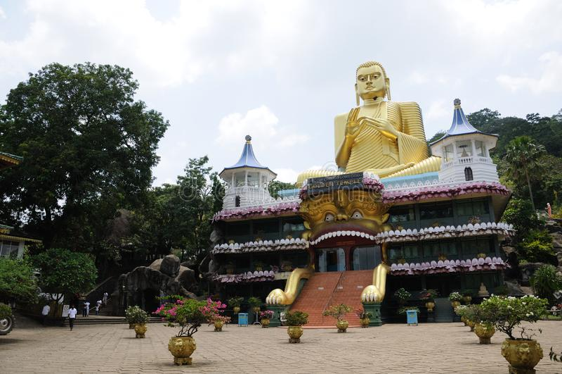 Gouden Tempel van Dambulla Boeddhistisch museum Sri Lanka azi? royalty-vrije stock foto's