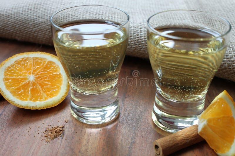 Gouden tequila stock foto's