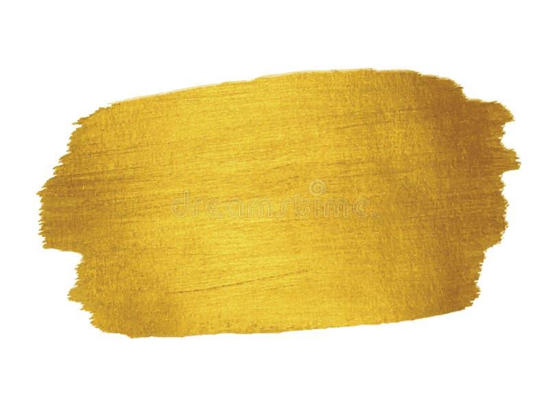 Gouden textuur Het ontwerpelement van de borstelslag royalty-vrije illustratie