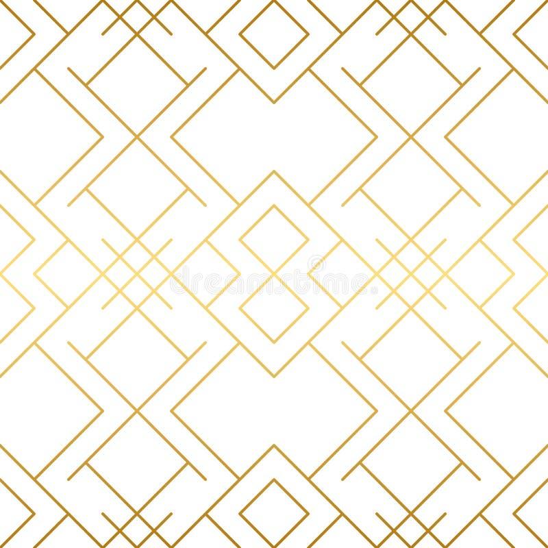 Gouden textuur Naadloos Geometrisch Patroon Gouden achtergrond stock fotografie