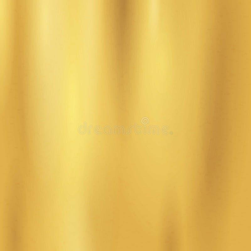 Gouden textuur naadloos patroon Licht realistisch, glanzend, metaal leeg gouden gradiëntmalplaatje abs royalty-vrije illustratie