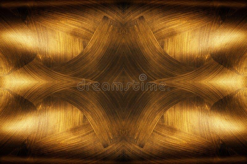 Gouden textuureenheden op een zwarte achtergrond royalty-vrije stock foto's
