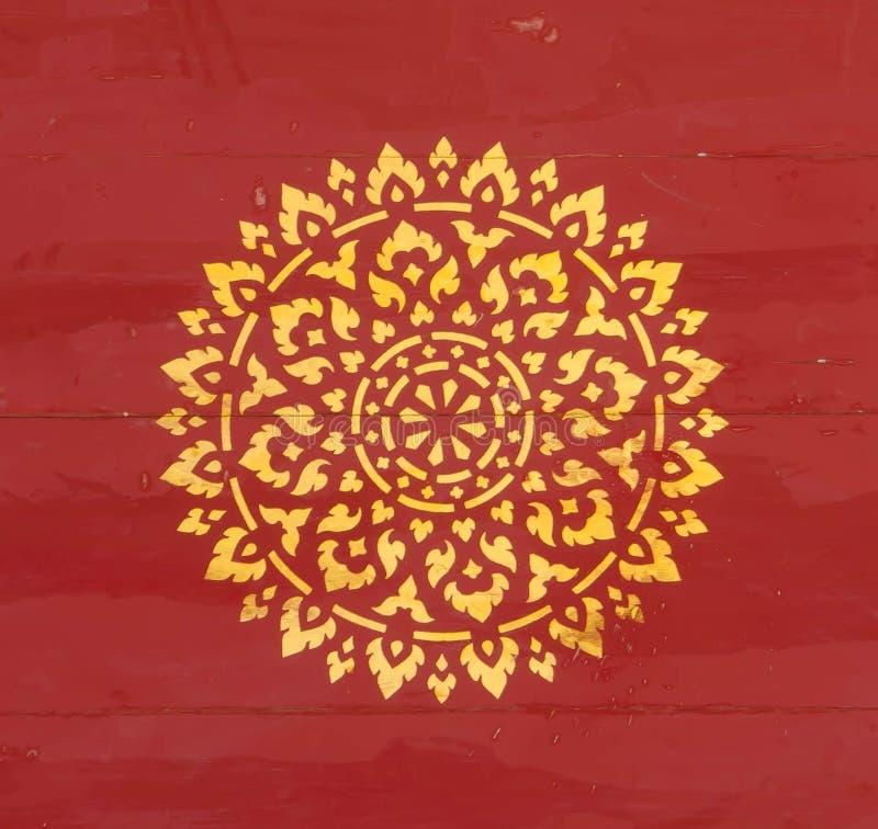 Gouden Thais patroon stock afbeelding