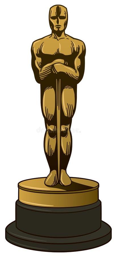 Gouden toekenning royalty-vrije illustratie