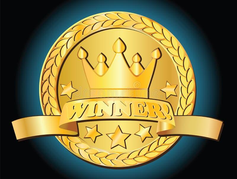 Gouden toekenning stock illustratie