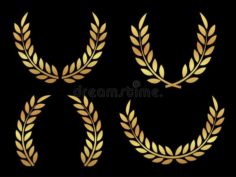 Gouden toekenning laurels royalty-vrije illustratie