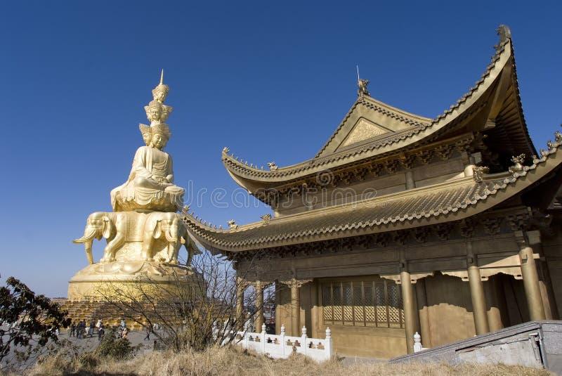 Gouden Top, Emei Shan royalty-vrije stock afbeelding