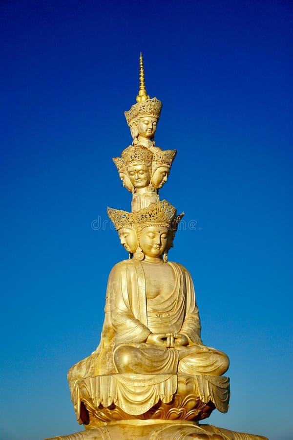 Gouden Top' s tien-Hoektand Puxian Bodhisattvas stock fotografie