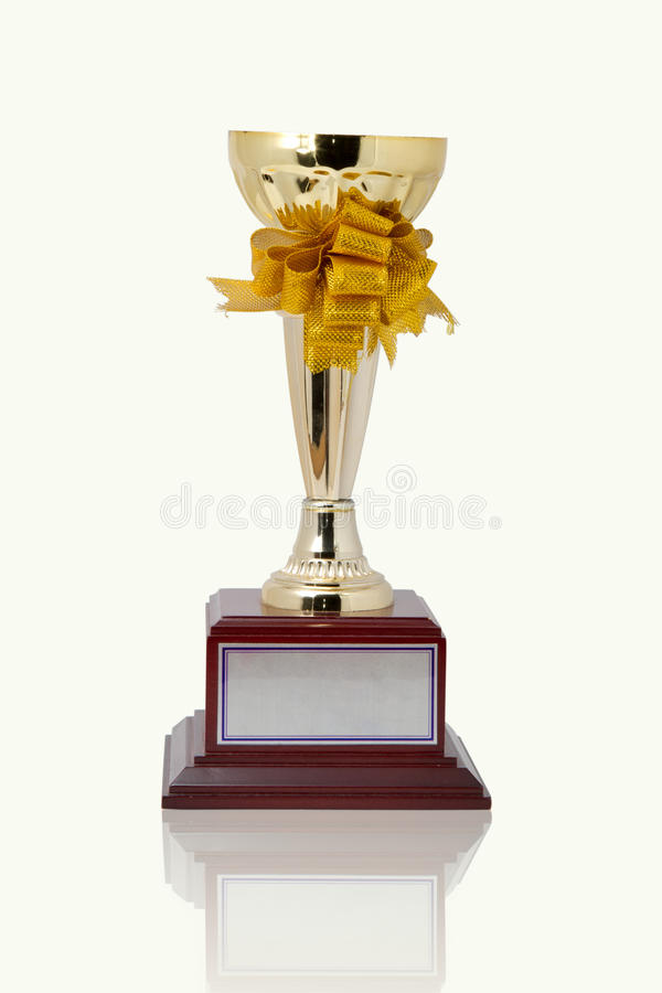 Gouden trofee royalty-vrije stock afbeelding
