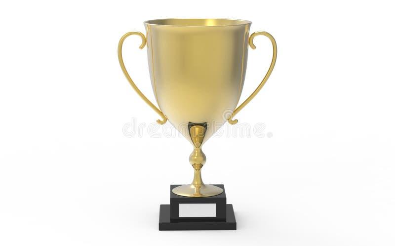 Gouden trofee, basketbal en voetbaltrofee, de trofee van de eerwacht royalty-vrije illustratie