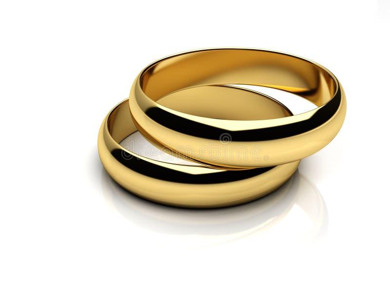 Gouden trouwringen royalty-vrije illustratie