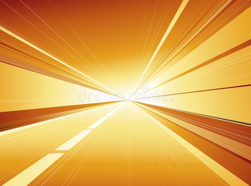 Gouden tunnel vector illustratie